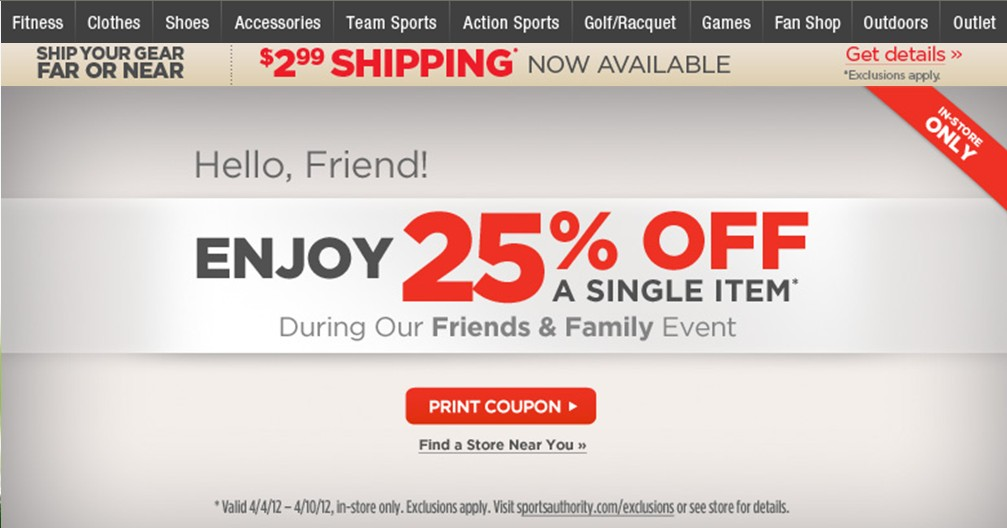 Sports authority friends and family coupon august 2018